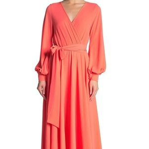 NWOT Meghan LA long sleeve maxi dress